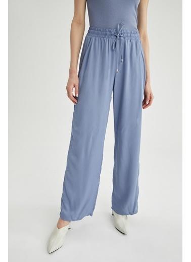 DeFacto Esnek Belli Geniş Paça Pantolon Mavi